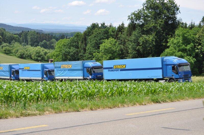 Fahrzeugflotte Santi-Trans - der Logistikdienstleister im Thurgau