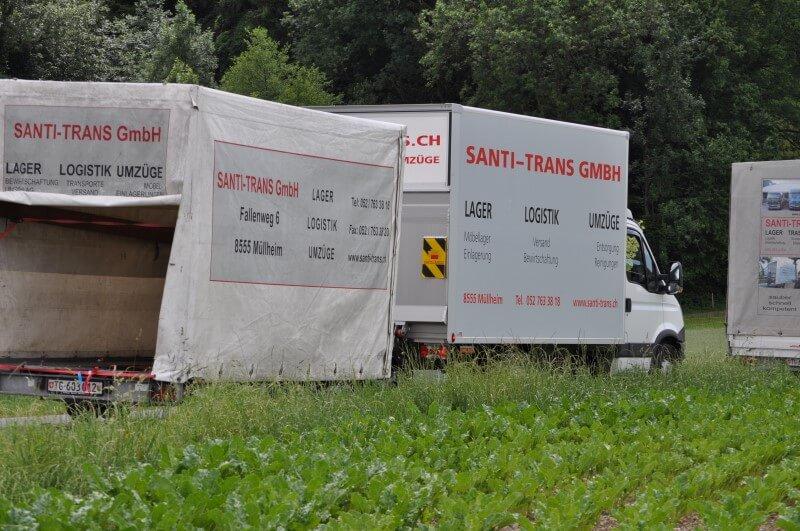 Fahrzeugflotte Santi-Trans - Ihr Spezialist für Umzüge mit Anhänger