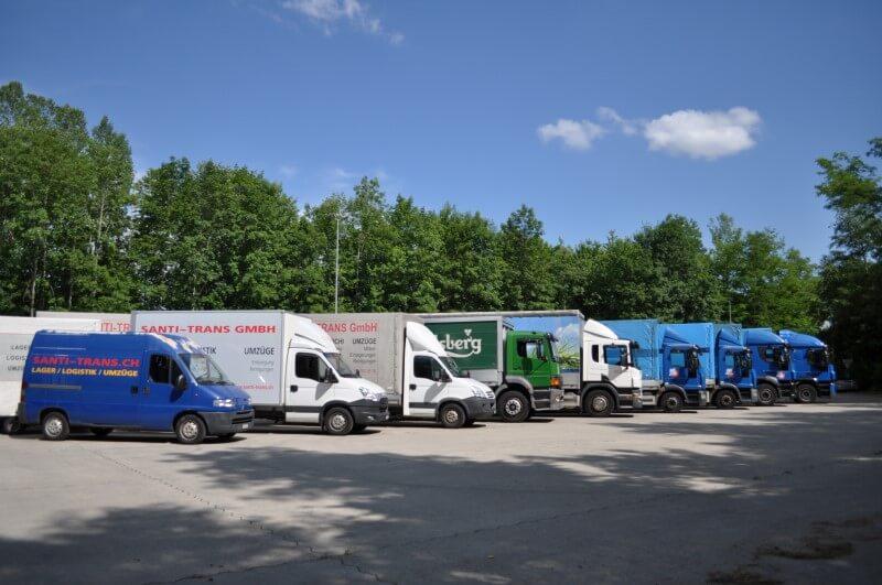 Fahrzeugflotte Santi-Trans - Ihr Spezialist für Lager, Logistik und Umzüge